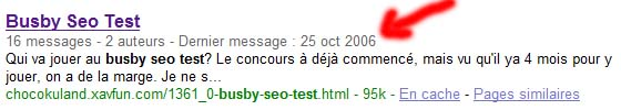 The Busby Seo Test french request